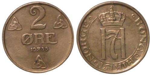 2 эре 1938 Норвегия
