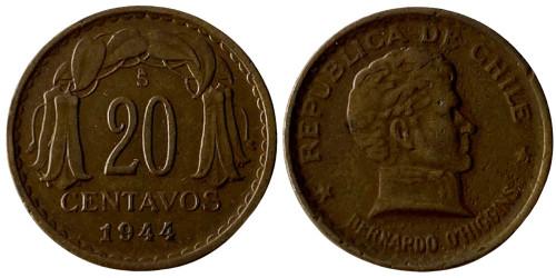 20 сентаво 1944 Чили