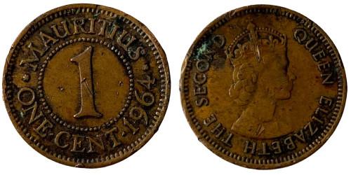 1 цент 1964 Маврикий