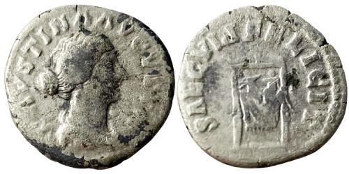 Денарий 125/130 — 175 г. н.е. — Фаустина II №1