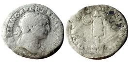 Денарий 98 — 117 г. н.е. — Траян — серебро №1