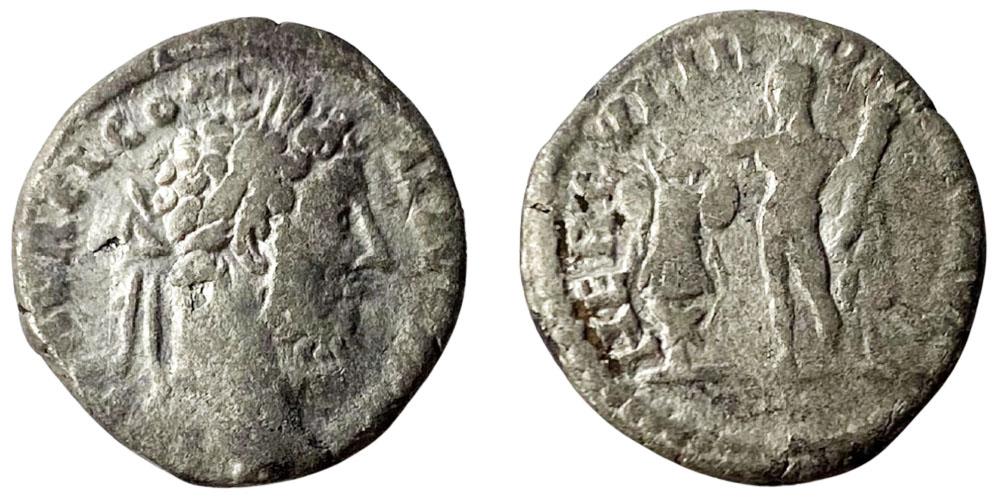 Денарий 161 — 192 г. н.е. — Коммод — серебро