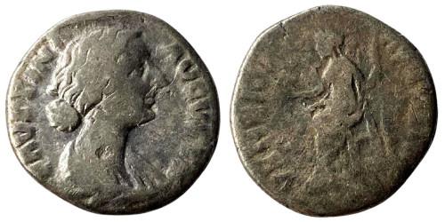 Денарий 125/130 — 175 г. н.е. — Фаустина II №2