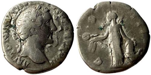 Денарий 138 — 161 г. н.е. — Антонин Пий — серебро №5