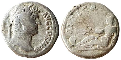 Денарий 117 — 138 г. н.е. — Адриан — серебро №3