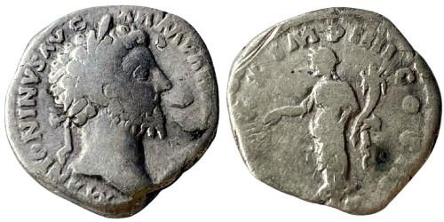 Денарий 161 — 181 г. н.е. — Марк Аврелий — серебро №3
