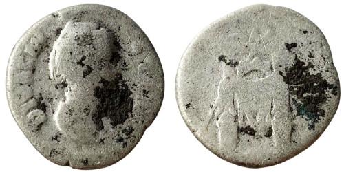 Денарий 100 — 141 г. н.е. — Фаустина I — серебро №2