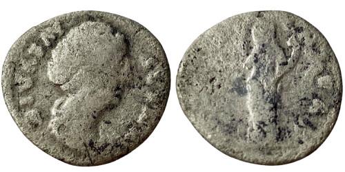 Денарий 100 — 141 г. н.е. — Фаустина I — серебро №3