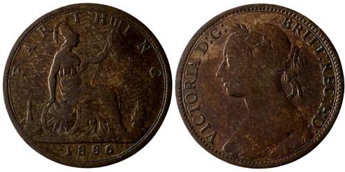 1 фартинг 1886 Великобритания
