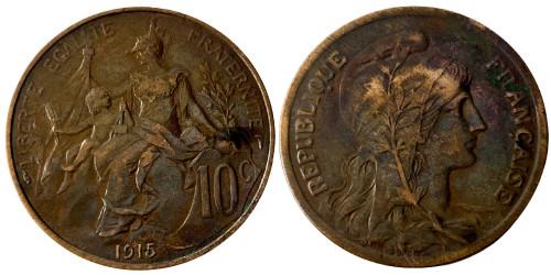 10 сантимов 1915 Франция