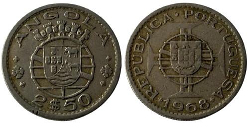 2.5 эскудо 1968 Ангола (Португальская Ангола)