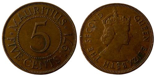 5 центов 1971 Маврикий