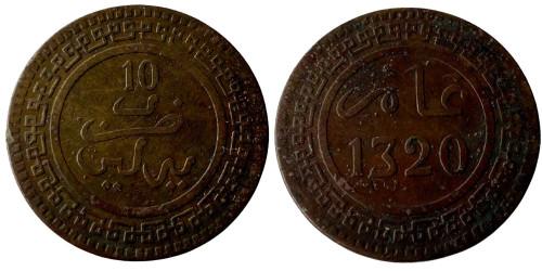 10 франков 1902 Марокко