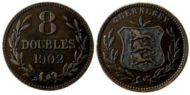 8 дублей 1902 остров Гернси