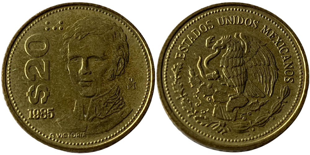 20 песо 1985 Мексика