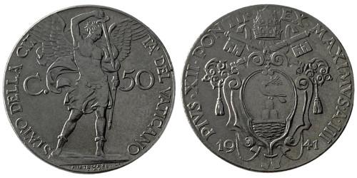 50 чентезимо 1941 Ватикан