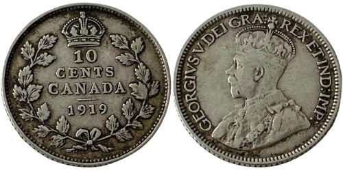 10 центов 1919 Канада — серебро