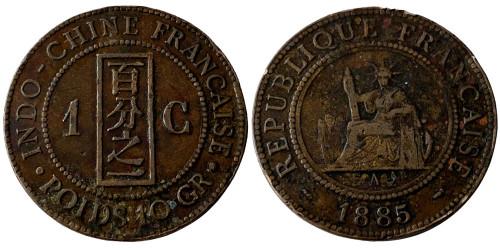 1 сантим 1885 Франция (Французский Индокитай)