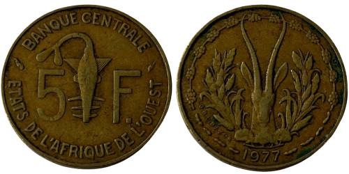 5 франков 1977 Западная Африка