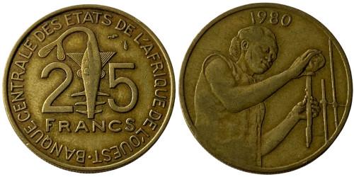 25 франков 1980 Западная Африка