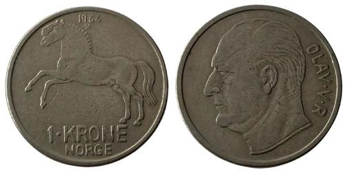 1 крона 1964 Норвегия