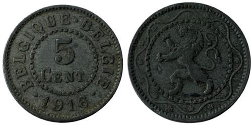 5 сантимов 1916 Бельгия