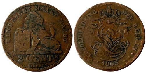 2 сантима 1905 Бельгия