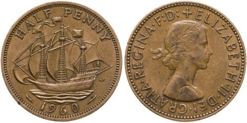 1/2 пенни 1960 Великобритания