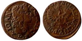 1 солид (боратинка) 16xx Польша — герб Польши на реверсе