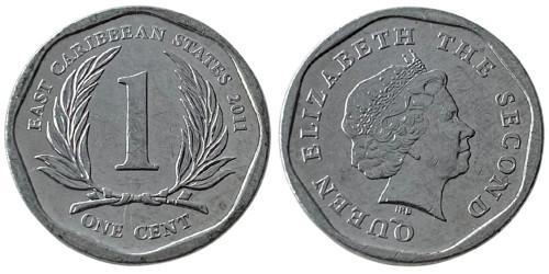 1 цент 2011 Восточные Карибы