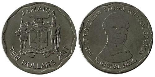 10 долларов 2017 Ямайка