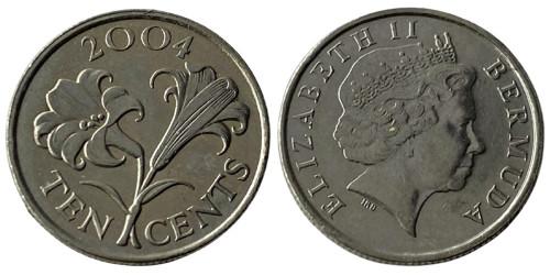 10 центов 2004 Бермуды