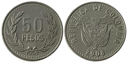 50 песо 2008 Колумбия