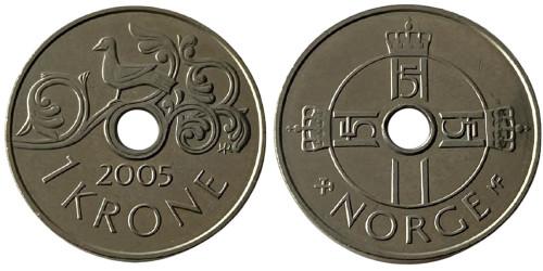 1 крона 2005 Норвегия