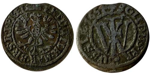 1 шиллинг 1654 Бранденбург-Пруссия — серебро
