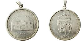 10 крон 1964 Швеция — 150 лет Конституции — с ушком для крепления — серебро