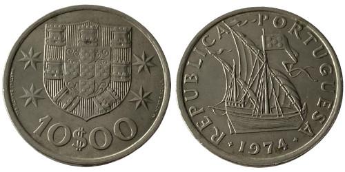 10 эскудо 1974 Португалия