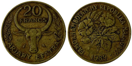 20 франков 1989 Мадагаскар