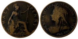 ½  пенни 1900 Великобритания