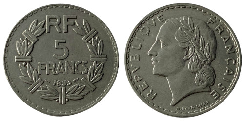 5 франков 1933 Франция