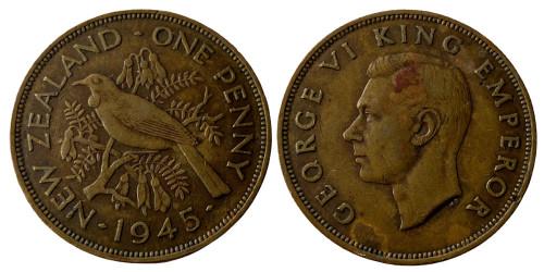 1 пенни 1945 Новая Зеландия