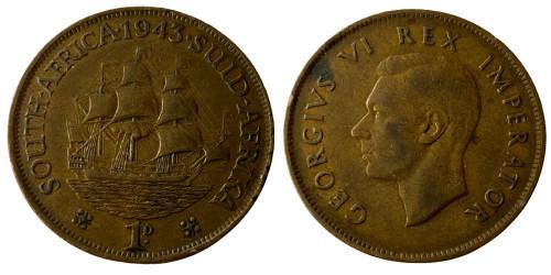 1 пенни 1943 ЮАР