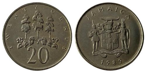 20 центов 1989 Ямайка