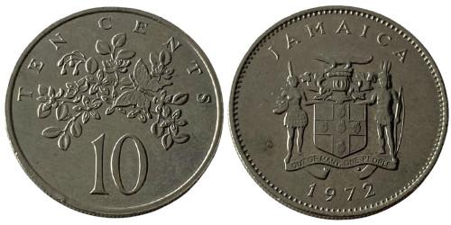 10 центов 1972 Ямайка