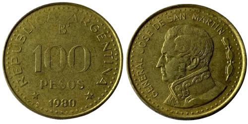 100 песо 1980 Аргентина