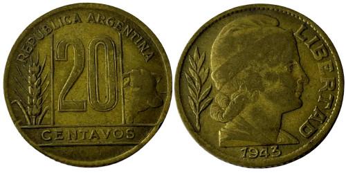 20 сентаво 1943 Аргентина