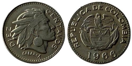 10 сентаво 1966 Колумбия