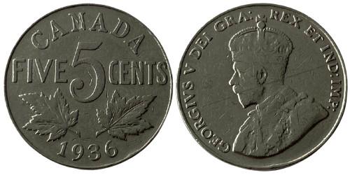 5 центов 1936 Канада