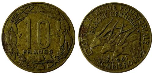 10 франков 1961 Экваториальная Африка