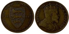 1/24 шиллинга 1909 остров Джерси